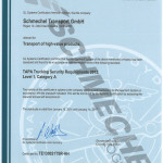 STG TAPA TSR Level 1 Category A Certificate